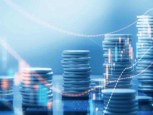 Moedas que refletem o fluxo da economia
