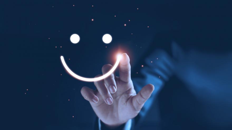 Tendências de marketing digital para 2020 com smile face